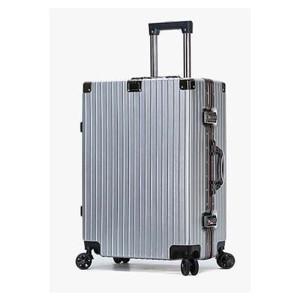 Maki zaza 时尚铝框拉杆箱24寸 MKZ-6030银色