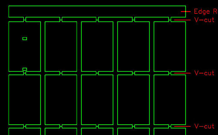 pcb拼板方式-空心连接条