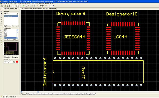 用prptel软件画PCB板