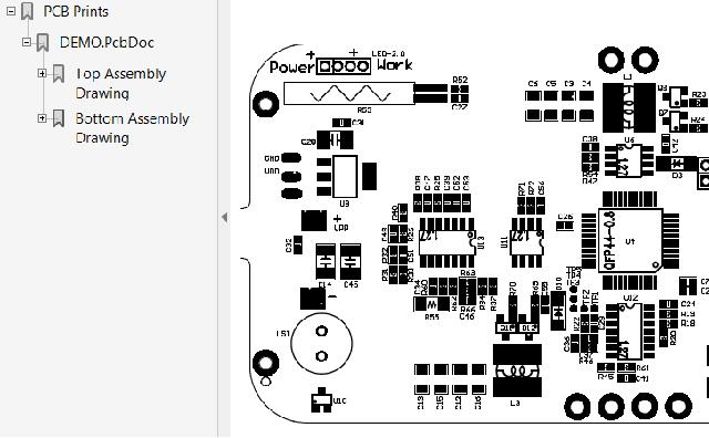 PDF文件输出效果图