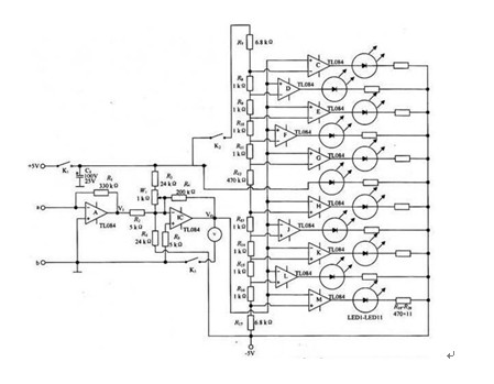 一款能分别测量交直流杂散电压和杂散电流的电流检测仪原理电路图