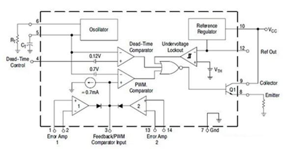 电压驱动内部结构电路图
