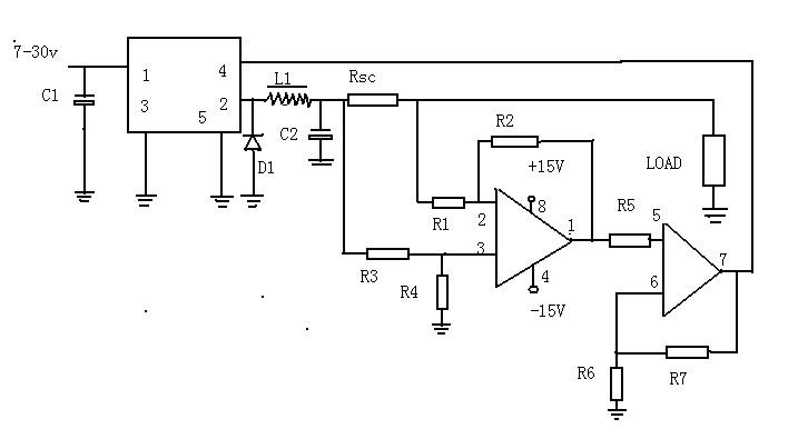 一款可吸引更多的电流负载引起调节£¬以减少电压保持恒定的?#20174;?#30340;CVCS调节器电路图