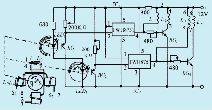 一款无电刷直流电机电路-jdbpcb.com