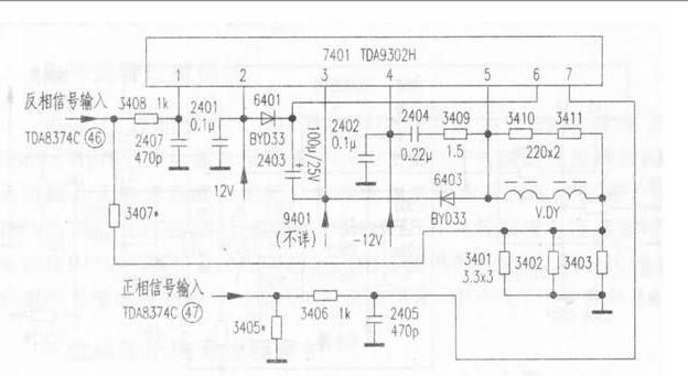 输入引脚外电路的规律是:通过一个耦合电容或一