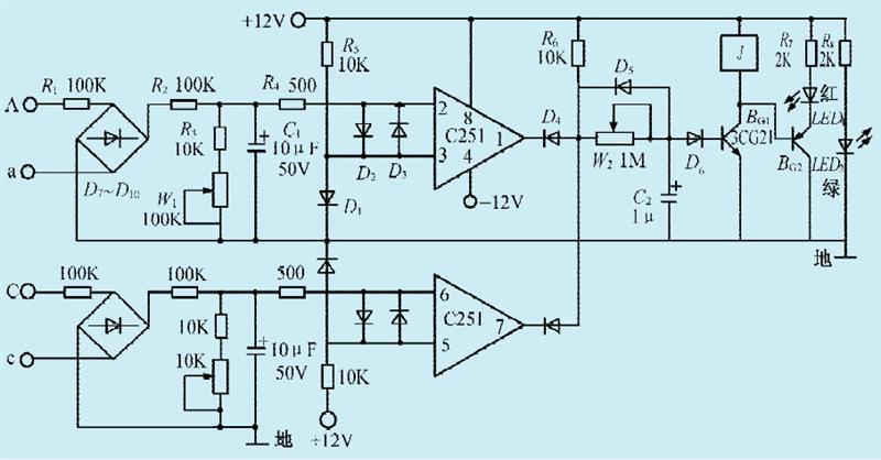 一款小型发电机并网控制电路