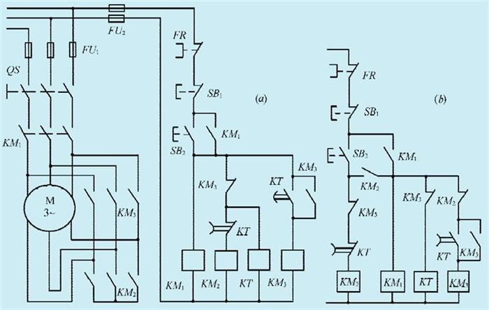 一款星形-三角形自动切换启动电路