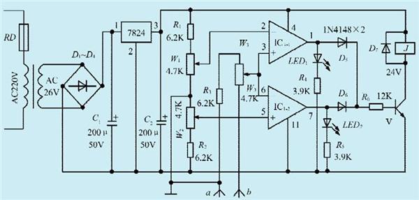 一款电机正反转超速控制电路设计图片