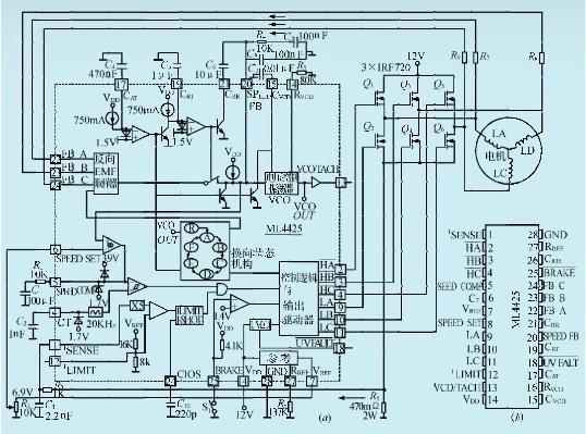 一款三相无刷直流电机控制集成电路