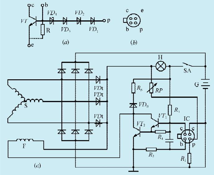 一款汽车发电机电压调节器电路