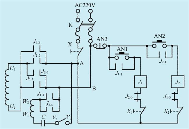 一款单相电机正反转控制电路(二)