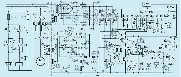 一款多功能电机保护电路