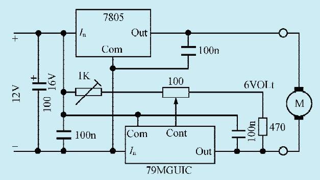一款电机低速运转控制电路