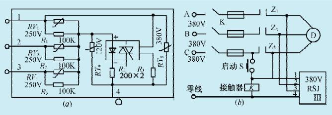 一款电机断相控制保护电路