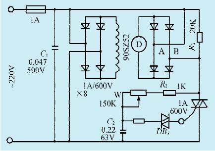一款直流电机简易调速电路图片