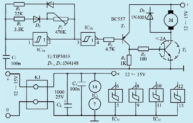 一款小型直流电机控制电路