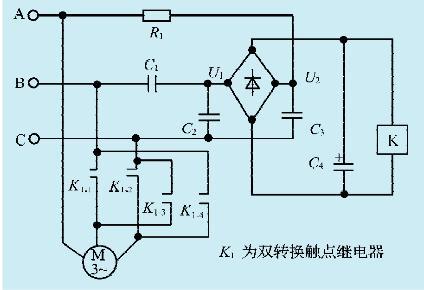 一款电机换向自动调整电路