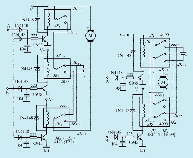 二款直流电机正反转控制电路图片