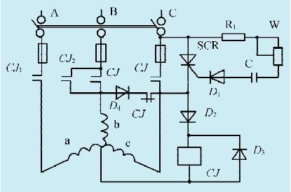 一款异步电机能耗制动控制电路