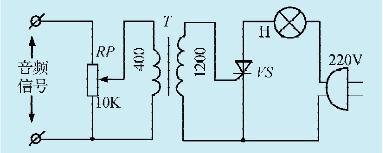一款简易的音乐彩灯控制电路