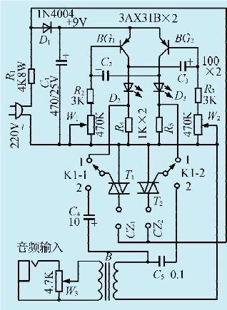 一款简易彩灯控制电路