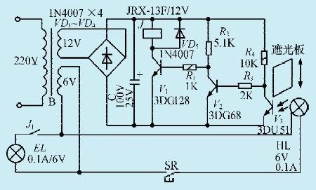 一款晶体管光电控制器电路