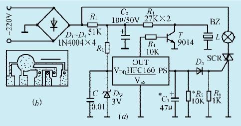 一款单路彩灯音乐控制电路