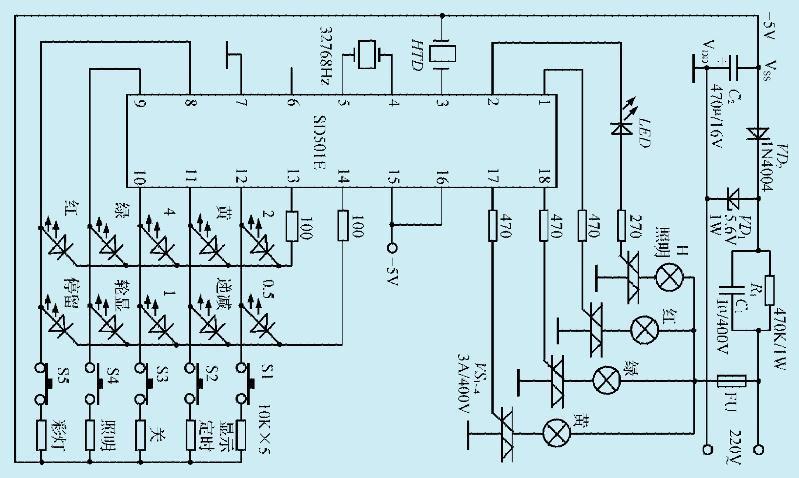 一款新颖的彩灯控制电路
