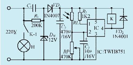 一款长明灯节电控制电路