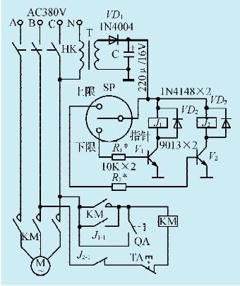 一款空压机气压开关控制电路
