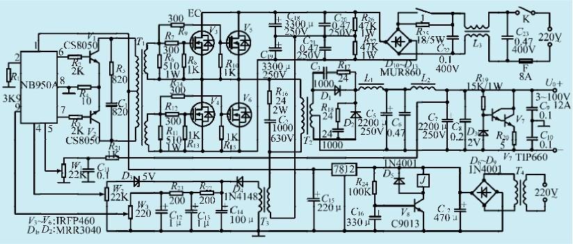 一款高频逆变器驱动模块电路