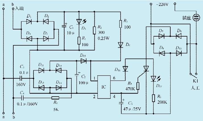 一款铃流控制的电源开关电路-jdbpcb.com