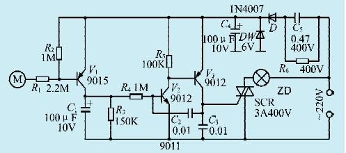一款振荡式触摸节电开关电路