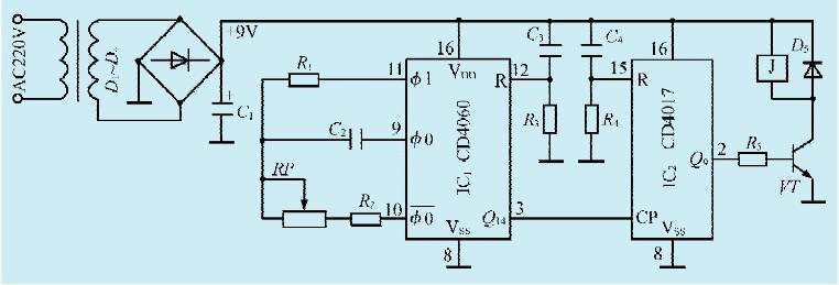一款长时间定时控制器电路(一)