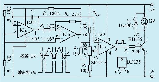 一款仪表风扇速度控制电路
