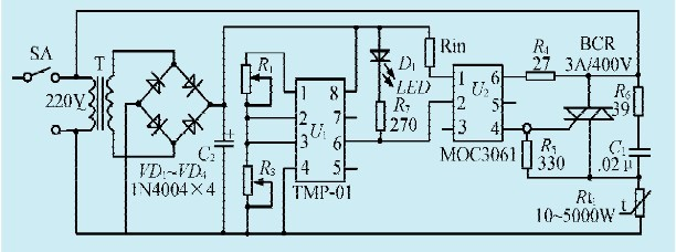 一款智能恒温控制器电路