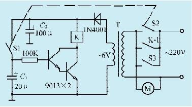 一款排气扇自动控制器电路