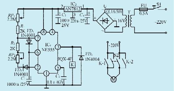 一款时控式排气扇自动控制电路