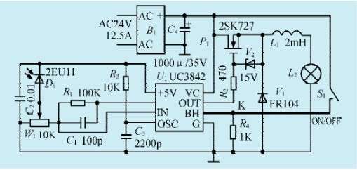 一款高功率恒光控制电路