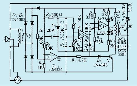 一款可控硅过零开关温度控制器电路