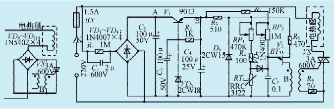 一款电热毯加装可调恒温控制电路