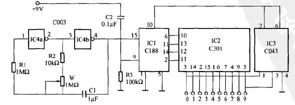 一款自动可逆式流水彩灯控制电路(一)