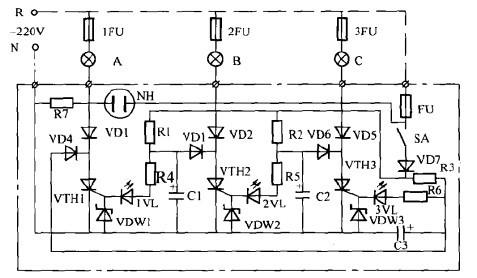 一款流水彩灯控制电路(一)