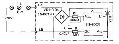 一款节日彩灯控制器电路(二)