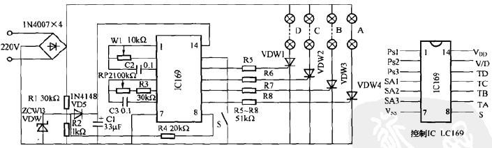 一款节日彩灯控制器电路(四)