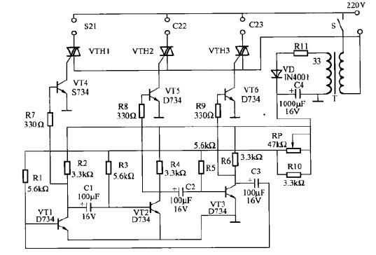 一款电子流光彩灯控制器电路