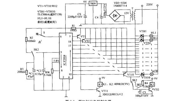一款霓虹灯广告控制电路