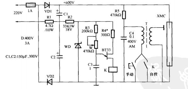 一款舞厅频闪灯控制电路(二)