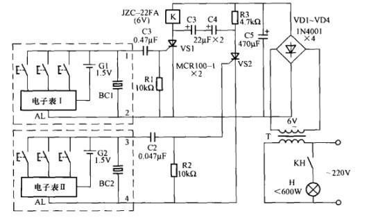 一款阅报栏灯光控制电路(二)