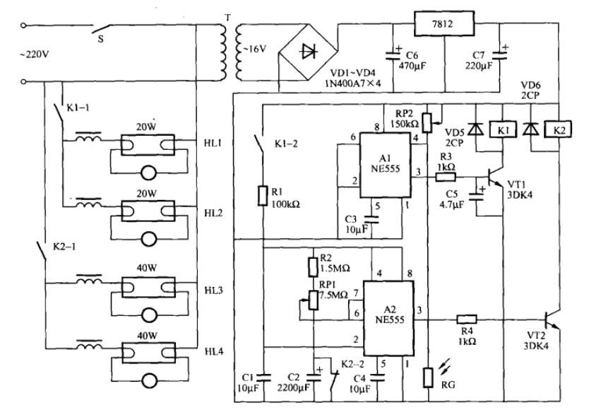 一款广告灯光控制电路(一)